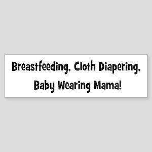 Breatfeeding cloth diapering baby wearing mama-bl