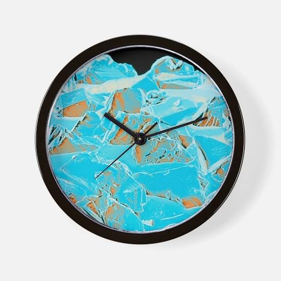 Coloured SEM of a diamond-coated dental Wall Clock