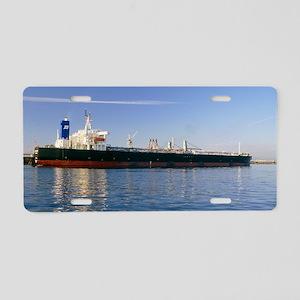 Supertanker Golar Nikko at  Aluminum License Plate