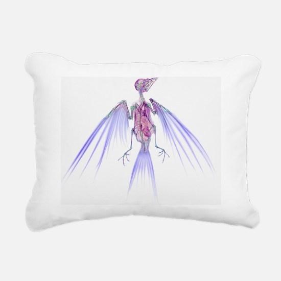 Swallow, X-ray Rectangular Canvas Pillow