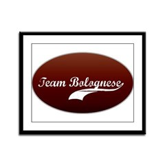 Team Bolognese Framed Panel Print