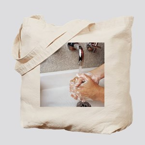 Cleaning hands Tote Bag