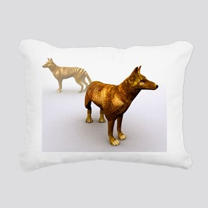 Tasmanian wolf, computer Rectangular Canvas Pillow