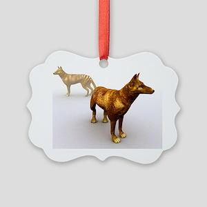 Tasmanian wolf, computer artwork Picture Ornament