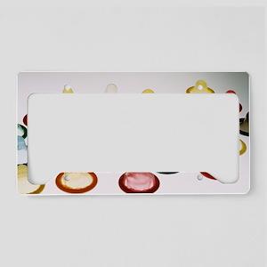 Condoms License Plate Holder