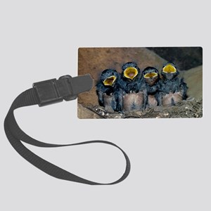Swallow chicks Large Luggage Tag
