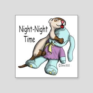 "Night Night Square Sticker 3"" x 3"""