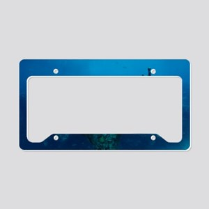 Submerged statue License Plate Holder
