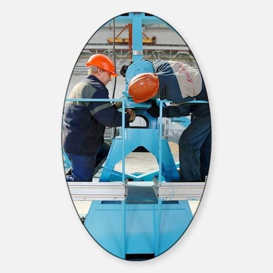 Sukhoi Superjet 100 assembly Sticker (Oval)