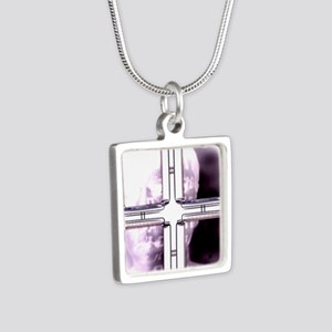 Surveillance Silver Square Necklace