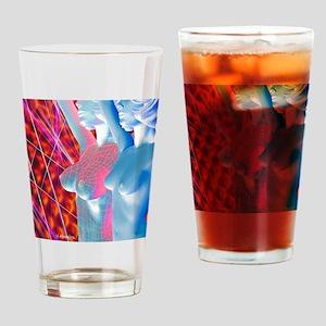 Computer artwork of breast enlargem Drinking Glass