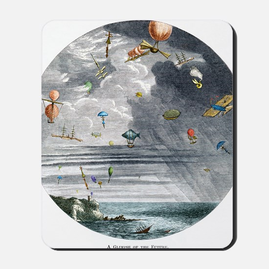 The future of air travel, 1865 Mousepad
