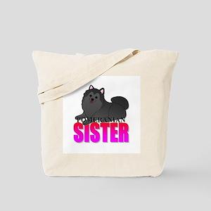 Black Pomeranian Sister Tote Bag