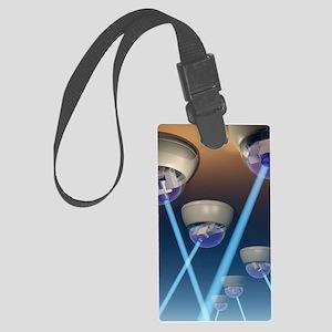 Surveillance cameras, computer a Large Luggage Tag