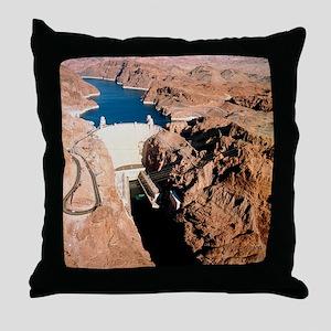 The Hoover Dam, Colorado River Throw Pillow