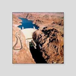 """The Hoover Dam, Colorado Ri Square Sticker 3"""" x 3"""""""