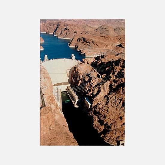 The Hoover Dam, Colorado River Rectangle Magnet