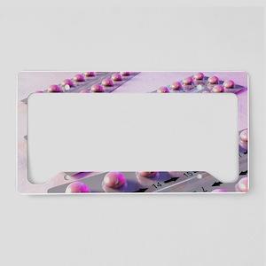 Contraception pills, artwork License Plate Holder