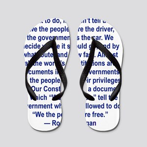 WE THE PEOPLE TELL THE GOVERNMENT WHAT  Flip Flops