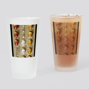 Contraceptive pills Drinking Glass