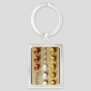Contraceptive pills Portrait Keychain