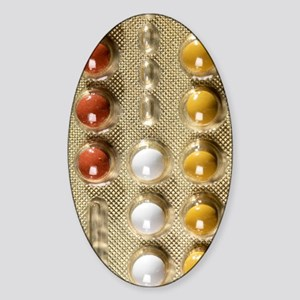 Contraceptive pills Sticker (Oval)