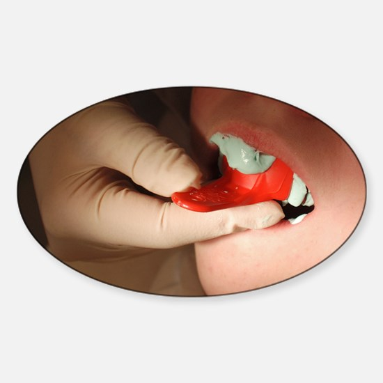 Dental impression Sticker (Oval)