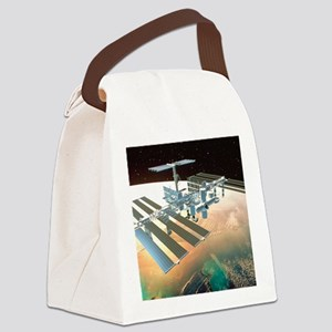 The International Space Station Canvas Lunch Bag