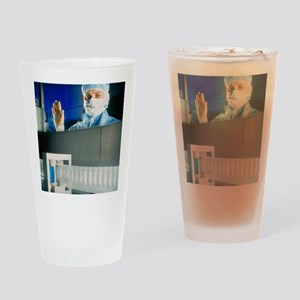 Technician monitoring suppository d Drinking Glass