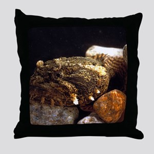 Toadfish Throw Pillow
