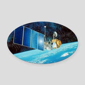 TOPEX/Poseidon satellite Oval Car Magnet