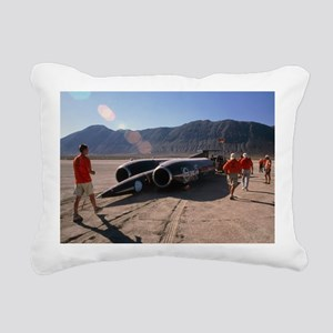 Thrust SSC, the world's  Rectangular Canvas Pillow