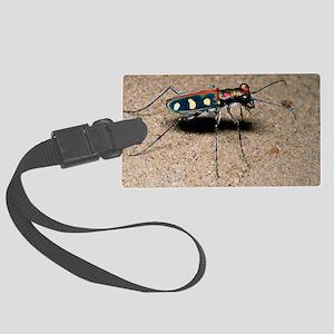 Tiger beetle Large Luggage Tag