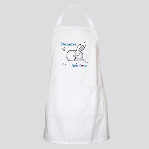 Bunny BBQ Apron: Bunnies Are Love