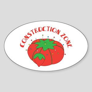 Construction Zone Sticker
