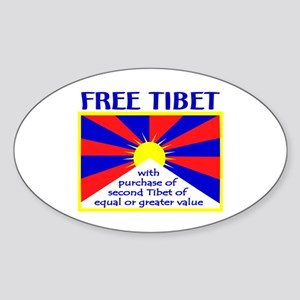 FREE TIBET* Oval Sticker