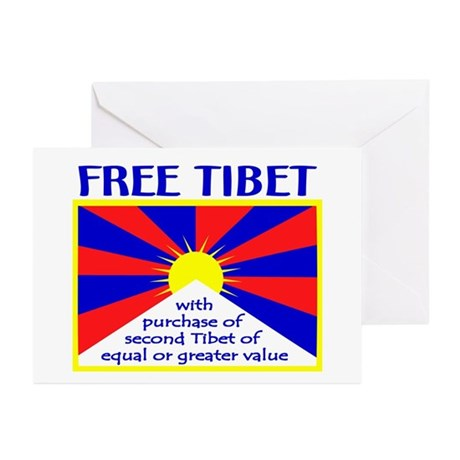 FREE TIBET* Greeting Cards (Pk of 10)