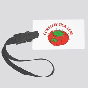 Construction Zone Luggage Tag