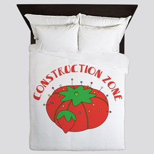Construction Zone Queen Duvet