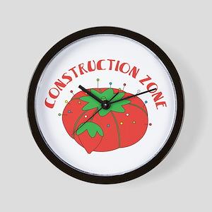 Construction Zone Wall Clock