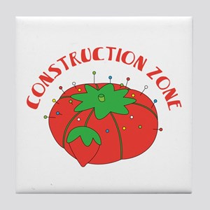 Construction Zone Tile Coaster