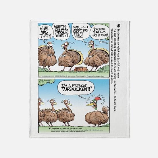 Thanksgiving Turkey Turducken Throw Blanket