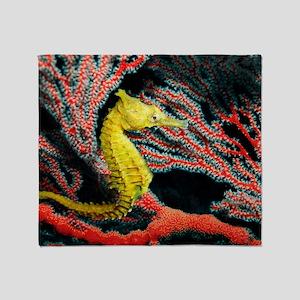 Thorny seahorse Throw Blanket