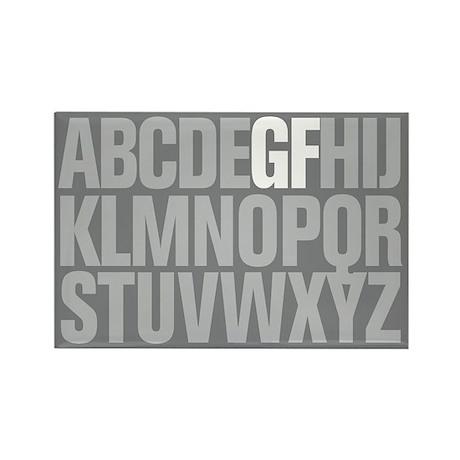 Supercool GF Alphabet Rectangle Magnet