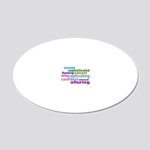 Ideal 20x12 Oval Wall Decal