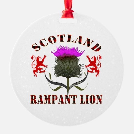 Scotland Tartan Rampant Lion Thistl Ornament