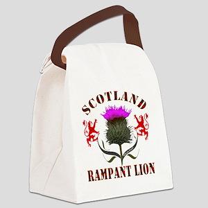 Scotland Tartan Rampant Lion This Canvas Lunch Bag