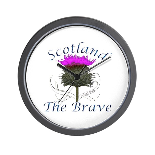 Scotland The Brave Thistle Design Wall Clock By Admin