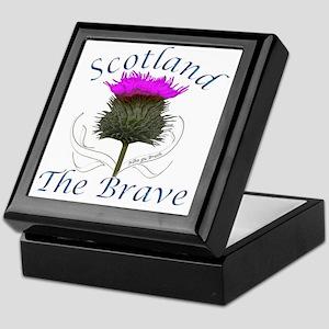 Scotland The Brave Thistle Design Keepsake Box