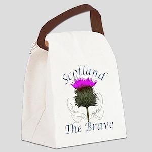 Scotland The Brave Thistle Design Canvas Lunch Bag